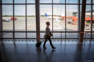 Fyra procent färre som valde flyget i februari
