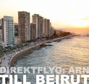 SAS öppnar ny direktlinje till Beirut från Arlanda