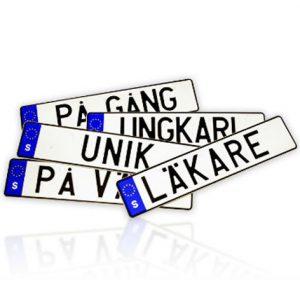 SVERIGE | Allt vanligare med personliga registreringsskyltar