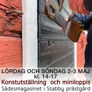 LÖRDAG 2 MAJ | Peder Strandh öppnar sommarateljén i Stabby prästgårds sädesmagasin