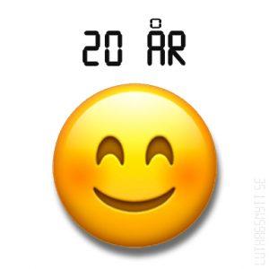 Emojin firar 20 år!