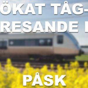 Uppsala tredje populäraste destinationen när fler svenskar tar tåget i påsk