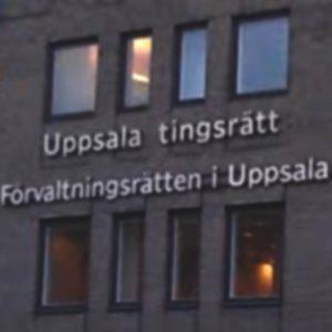 Uppsala tingsrätt utrymdes på torsdagsförmiddagen