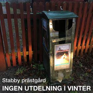 Enl. redaktör'n: Därför blir det ingen utdelning av UMLN vid Stabby prästgård i vinter