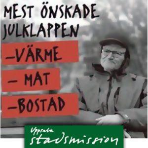 """Uppsala Stadsmission lanserar """"Tomteruschen för ett mänskligare Uppsala"""""""